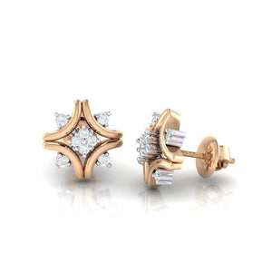 18Kt rose gold real diamond earring 24(3) by diamtrendz