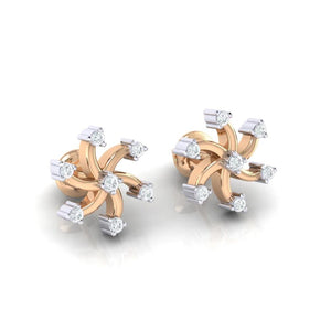 18Kt rose gold real diamond earring 25(1) by diamtrendz