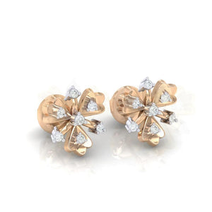 18Kt rose gold real diamond earring 26(1) by diamtrendz