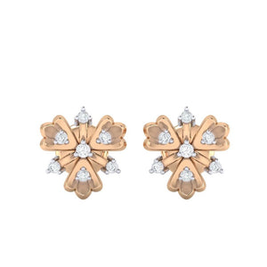 18Kt rose gold real diamond earring 26(2) by diamtrendz