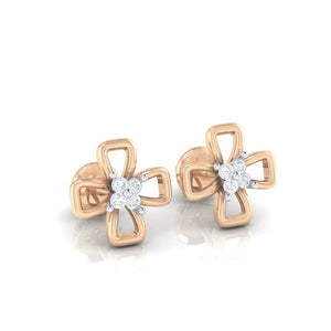 18Kt rose gold real diamond earring 27(1) by diamtrendz