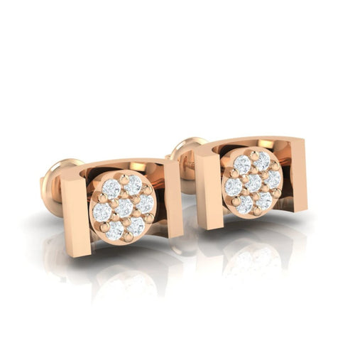 18Kt rose gold real diamond earring 28(1) by diamtrendz