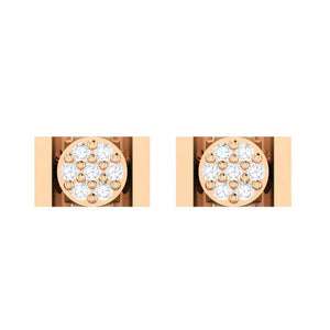 18Kt rose gold real diamond earring 28(2) by diamtrendz