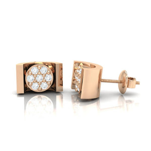 18Kt rose gold real diamond earring 28(3) by diamtrendz