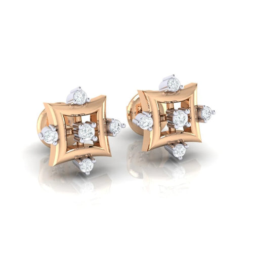 18Kt rose gold real diamond earring 29(1) by diamtrendz