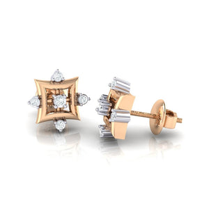 18Kt rose gold real diamond earring 29(3) by diamtrendz