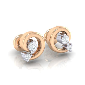 18Kt rose gold real diamond earring 30(1) by diamtrendz