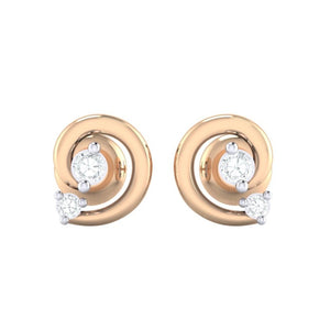 18Kt rose gold real diamond earring 30(2) by diamtrendz