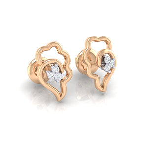 18Kt rose gold real diamond earring 34(1) by diamtrendz