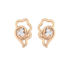 Load image into Gallery viewer, 18Kt rose gold real diamond earring 34(2) by diamtrendz