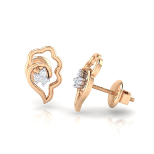 18Kt rose gold real diamond earring 34(3) by diamtrendz