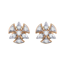 Load image into Gallery viewer, 18Kt rose gold real diamond earring 36(2) by diamtrendz
