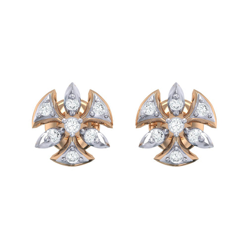 18Kt rose gold real diamond earring 36(2) by diamtrendz
