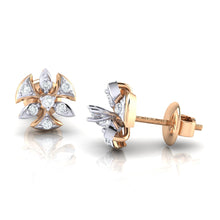 Load image into Gallery viewer, 18Kt rose gold real diamond earring 36(3) by diamtrendz