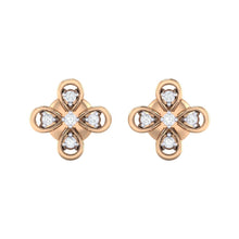 Load image into Gallery viewer, 18Kt rose gold real diamond earring 37(2) by diamtrendz