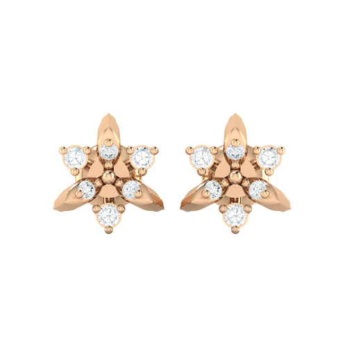 18Kt rose gold real diamond earring 38(2) by diamtrendz