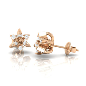 18Kt rose gold real diamond earring 38(3) by diamtrendz