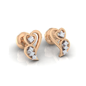 18Kt rose gold real diamond earring 39(1) by diamtrendz