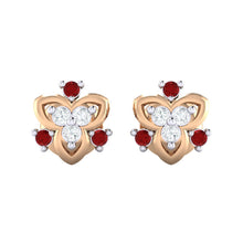 Load image into Gallery viewer, 18Kt rose gold real diamond earring 41(2) by diamtrendz