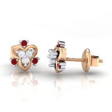 Load image into Gallery viewer, 18Kt rose gold real diamond earring 41(3) by diamtrendz