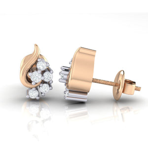 18Kt rose gold real diamond earring 42(3) by diamtrendz