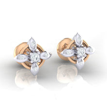 Load image into Gallery viewer, 18Kt rose gold real diamond earring 43(1) by diamtrendz