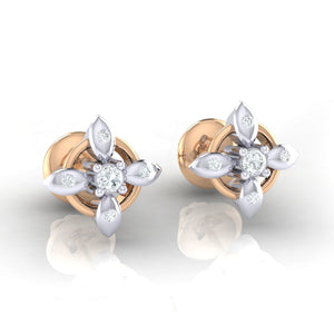 18Kt rose gold real diamond earring 43(1) by diamtrendz