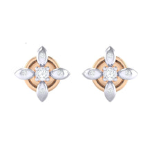 Load image into Gallery viewer, 18Kt rose gold real diamond earring 43(2) by diamtrendz