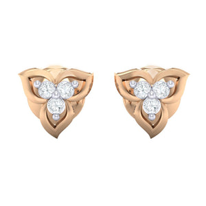 18Kt rose gold real diamond earring 44(2) by diamtrendz