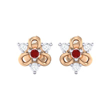 Load image into Gallery viewer, 18Kt rose gold real diamond earring 45(2) by diamtrendz