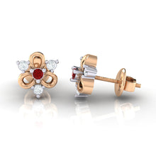 Load image into Gallery viewer, 18Kt rose gold real diamond earring 45(3) by diamtrendz