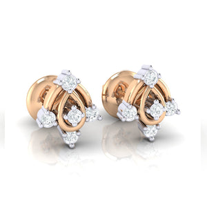 18Kt rose gold real diamond earring 46(1) by diamtrendz