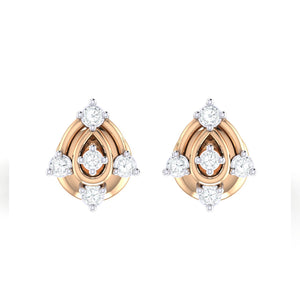 18Kt rose gold real diamond earring 46(2) by diamtrendz