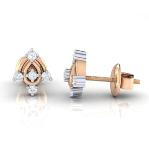 18Kt rose gold real diamond earring 46(3) by diamtrendz