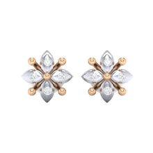 Load image into Gallery viewer, 18Kt rose gold real diamond earring 48(2) by diamtrendz