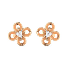 Load image into Gallery viewer, 18Kt rose gold real diamond earring 49(2) by diamtrendz