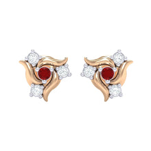 Load image into Gallery viewer, 18Kt rose gold real diamond earring 50(2) by diamtrendz