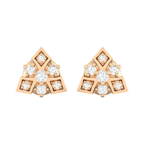 18Kt rose gold real diamond earring 51(2) by diamtrendz