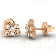 Load image into Gallery viewer, 18Kt rose gold real diamond earring 51(3) by diamtrendz