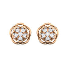 Load image into Gallery viewer, 18Kt rose gold real diamond stud earring 53(2) by diamtrendz