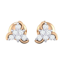Load image into Gallery viewer, 18Kt rose gold real diamond stud earring 55(2) by diamtrendz