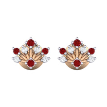 Load image into Gallery viewer, 18Kt rose gold real diamond stud earring 56(2) by diamtrendz