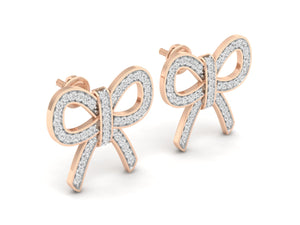 18Kt rose gold real diamond earring 5(1) by diamtrendz
