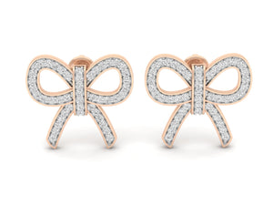 18Kt rose gold real diamond earring 5(2) by diamtrendz