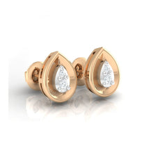 Load image into Gallery viewer, 18Kt rose gold pear diamond earring by diamtrendz