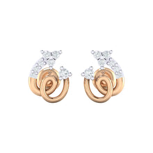 Load image into Gallery viewer, 18Kt rose gold spiral diamond earring by diamtrendz