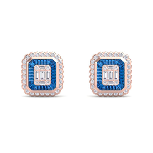 18Kt rose gold designer diamond earring by diamtrendz