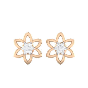 18Kt rose gold real diamond earring 8(2) by diamtrendz