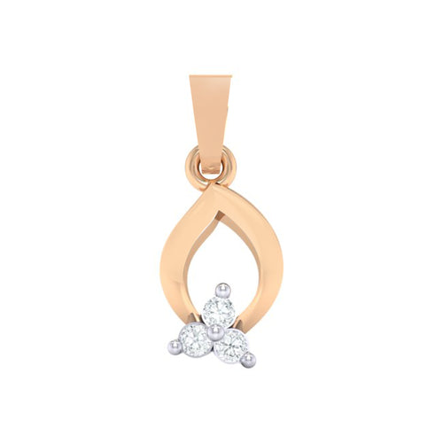 18Kt rose gold real diamond pendant 11(1) by diamtrendz