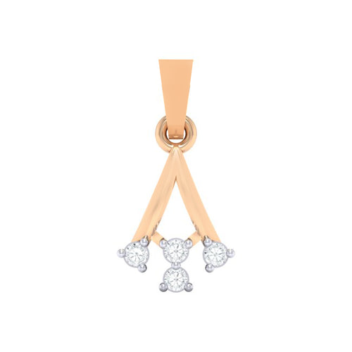 18Kt rose gold real diamond pendant 12(1) by diamtrendz